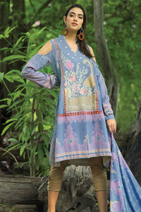 LSM PUSHTANI EMBROIDERED WINTER COLLECTION P-995 - BLUE