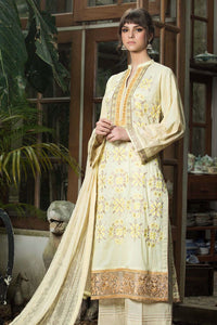 LSM 3 PC UNSTITCHED DRESS PG-0101 - YELLOW