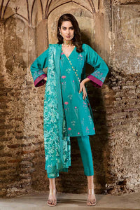 Gul Ahmed Embroidered Green 3 PC Unstitched Suit PM-258