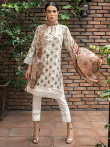 Gul Ahmed Silken Pearl PS-06 - CREAM