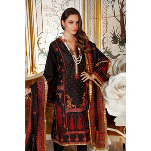 Gul Ahmed 3 PC Embroidered-Suit with Silk Dupatta FE-294