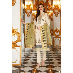 Gul Ahmed 3 PC Jacquard Suit-FE-269