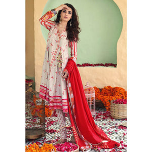 Gul Ahmed 3PC Unstitched Embroidered Lawn Suit TD-05