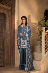 Sapphire 3 Piece Unstitched Embroidered Georgette Chiffon INTENSE DESIRE-V3-2019