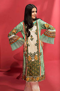GUL AHMED GREEN EMBROIDERED DIGITAL UNSTITCHED SINGLE SHIRT SCE-117