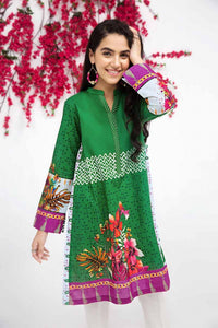 GREEN UNSTITCHED SINGLE SHIRT SCN-122