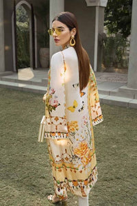 Gul Ahmed Digital Printed Silk Yellow Honeygold SDGS-85