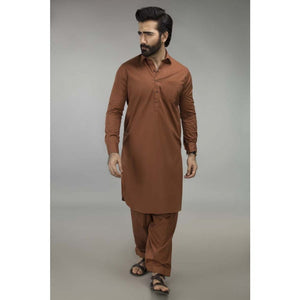 Gul Ahmed Ready to Wear Regular Fit Poly Viscose Rust Stitched Shalwar Kameez SKP-621