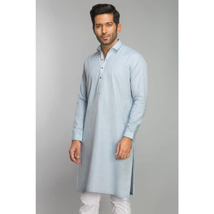 Gul Ahmed Ready to Wear Men Cotton Jacquard Fashion Regular Fit Stitched Suit Sky SKS-146