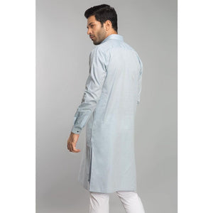 Gul Ahmed Ready to Wear Men Cotton Jacquard Fashion Regular Fit Stitched Suit Sky SKS-148
