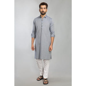 Gul Ahmed Ready to Wear Men Cotton jacquard Fashion Regular Fit Stitched Suit Blue SKS-149