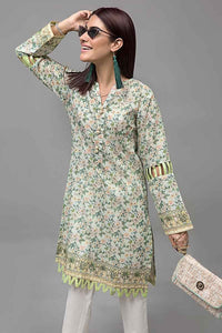 Green 1 PC Unstitched Shirt SL-748