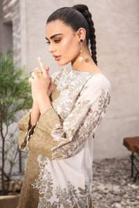 AL-KARAM STUDIO Spring Summer Vol 2(Duex) Two Piece Printed Suit With Cambric Trouser SS-27-20-2-Olive