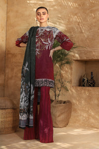 AL-KARAM STUDIO Spring Summer Vol 2(Duex) Two Piece Embroidered Suit With Voile Dupatta SS-30-20-2-Maroon
