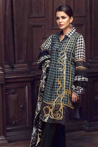 Gul Ahmed Silk embroidered Multi 3 Pcs SWM-06 - BLUE