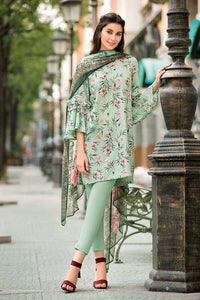 Green 3 PC Unstitched Suit SY-23