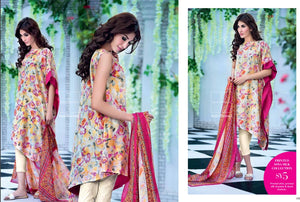 Gul Ahmed Light Yellow Soya Silk Collection – SY-05