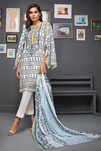 Gul Ahmed Embroidered Cambric Unstitched 2 Piece Suit TCE-36 - White