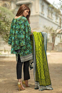 Gul Ahmed Printed Viscose Black 3 Pcs VH-18