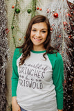 In A World Of Grinches Raglan Tee