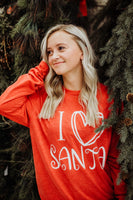 I Love Santa Long Sleeve Graphic Tee Shirt