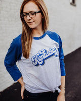 Kentucky Vintage Design Raglan