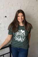 My Heart Belongs To A Soldier Graphic T-Shirt