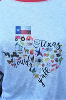 The Great State of Texas Raglan