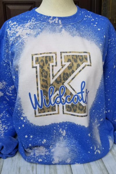 Kentucky Wildcats Blue Bleached Sweatshirt
