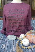 Teal Long Sleeve Tee Colorful Pumpkins