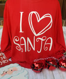 I love Santa Red Long Sleeve