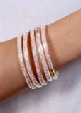 Katherine Set Of Five Glitter Bracelets -Blush Sequin - The Pink Petal Boutique