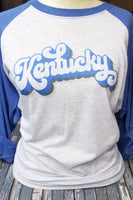 Vintage Kentucky Blue & White Raglan