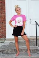 Marilyn Monroe Bubble Gum Bleached Graphic T-Shirt - The Pink Petal Boutique