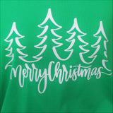 Green Long Sleeve Merry Christmas Trees