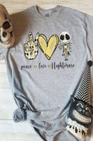 Peace Love Nightmare Graphic T-shirt - The Pink Petal Boutique