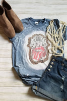 Rolling Stones Bleached Graphic T-Shirt - The Pink Petal Boutique