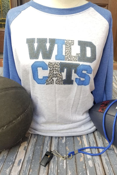UK Wildcats Blue & White Raglan