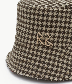 Houndstooth Check Bucket Hat