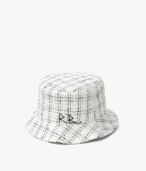 Checked-tweed bucket hat (4604744007755)
