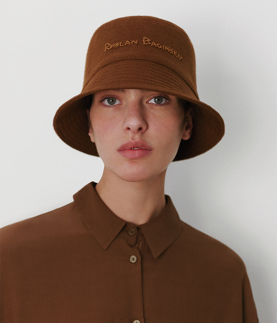 Beads-embellished Bucket Hat