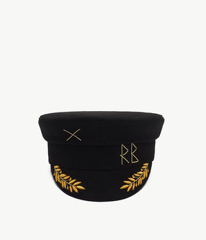 "Copy of ""Mercury Retrograde"" Black Cotton Baker Boy Cap (4709581684811)"