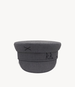 Monogram-embroidered Baker Boy Cap