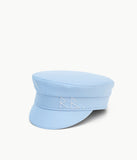 Blue cotton baker boy cap