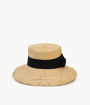 Bow-trimmed panama hat (4604797419595)