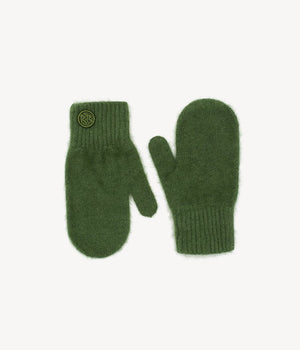 Green Logo Patch Mittens