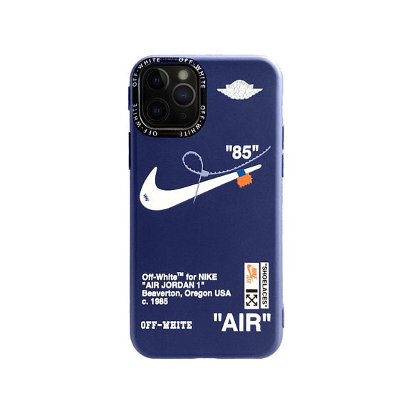 Off White iPhone case in blue
