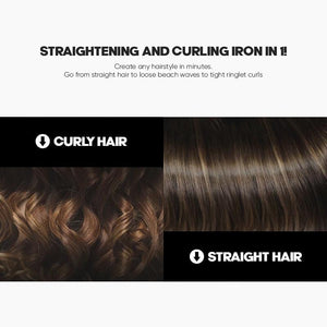 StylingQueen™ 2-in-1  Straightening & Curling Ceramic Flat Iron