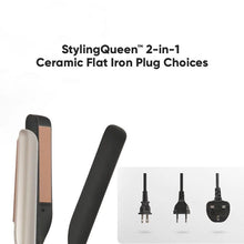 Load image into Gallery viewer, StylingQueen™ 2-in-1  Straightening & Curling Ceramic Flat Iron