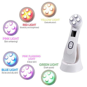 BloomVenus BeautyGuru™ 5-in-1 Skin Rejuvenation LED Facial Therapy Device